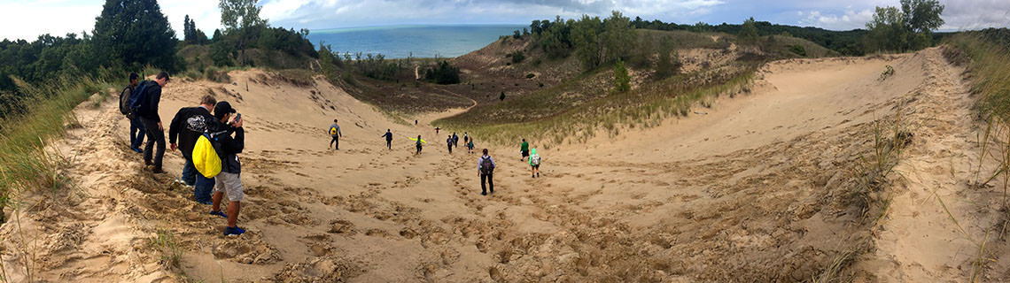 Students at Indiana Dunes State Park