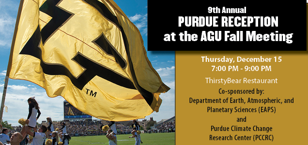 Purdue to host reception at American Geophysical Union meeting