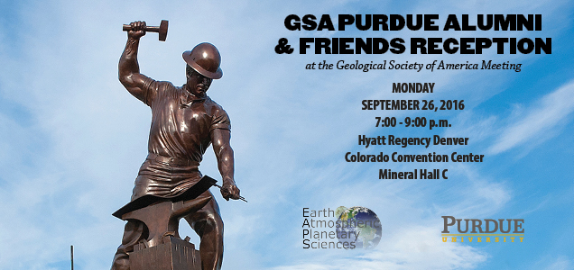 Purdue to host reception at Geological Society of America meeting